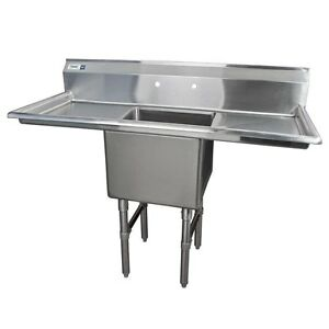 Image Is Loading 54 034 Stainless Steel One Compartment Commercial NSF