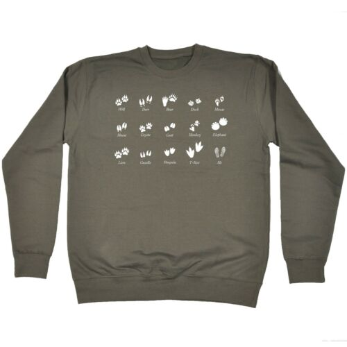 Animal Footsteps And Me Funny Nature Joke Humour SWEATSHIRT Birthday for him her