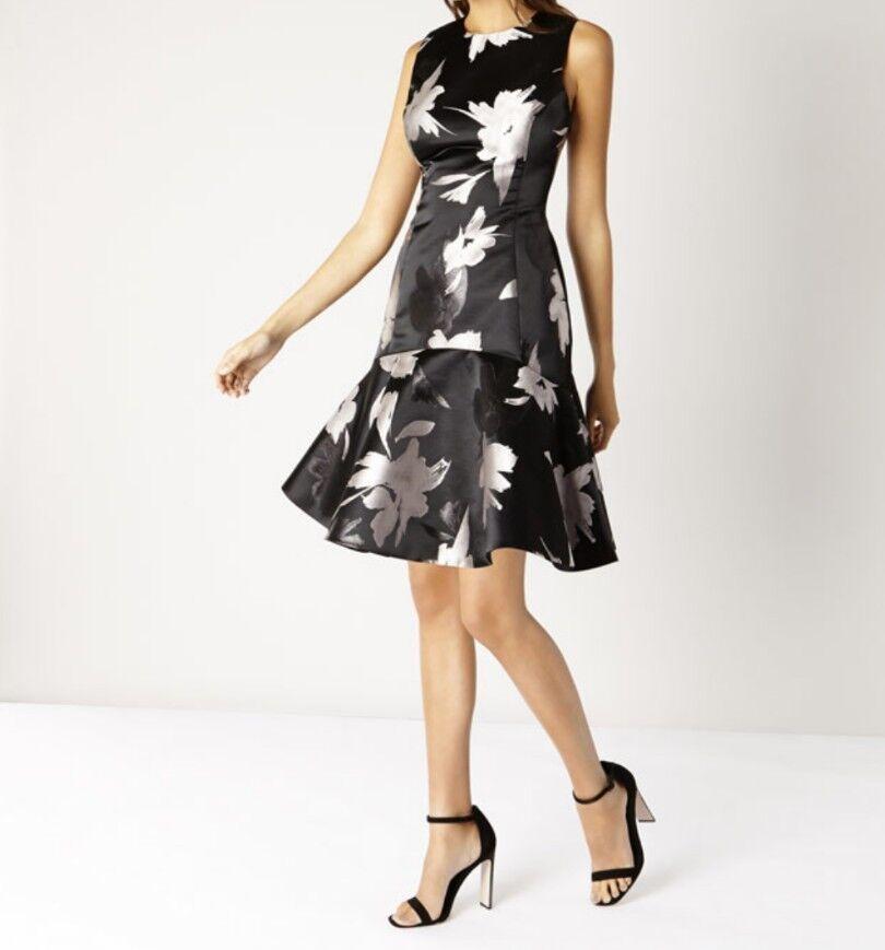 BNWT Coast Größe 12 Burford Jacquard Beatrix Dress, Multi, Party evening