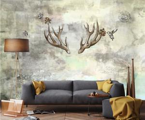 3D Kreatives Geweih 754 Tapete Wandgemälde Tapete Tapeten Bild Familie DE Summer
