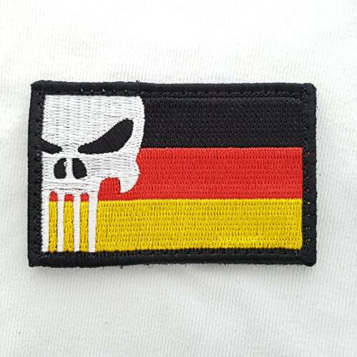 Punisher GERMANY Patch skull tete de mort écusson patch pour Airsoft Paintball