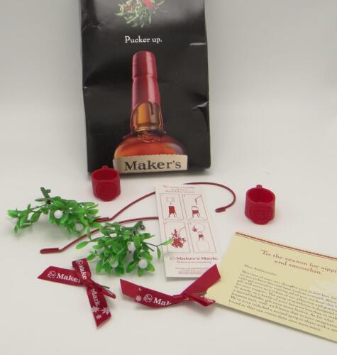 Makers Mark Mistletoe Christmas Holiday Bottle Decoration Collar Ambassador Gift