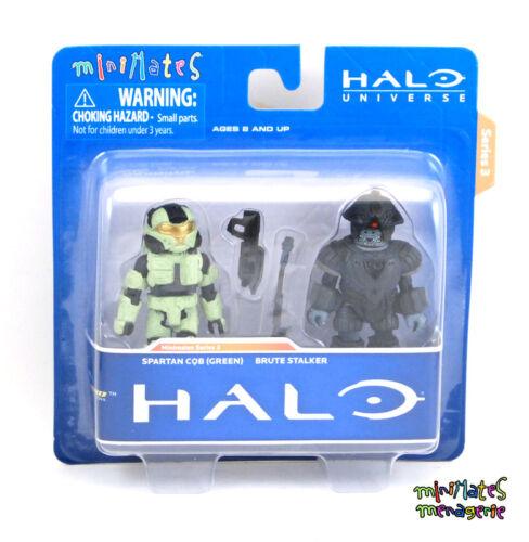Halo Minimates TRU Toys R Us Wave 3 Spartan CQB Green /& Brute Stalker