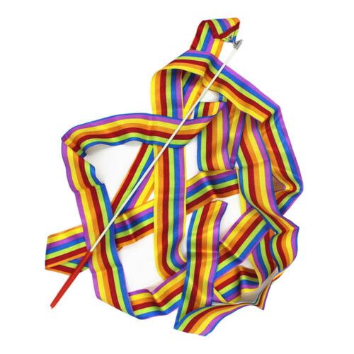 4Meter Dance Ribbon Gym Rhythmic Art Gymnastic Ballet Streamer Twirling Rod Wand