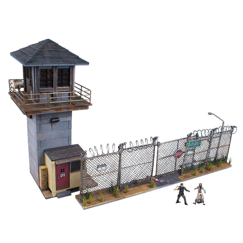 The Walking Dead Construction Prison Tower and Gate - 620 Pieces McFarlane Toys