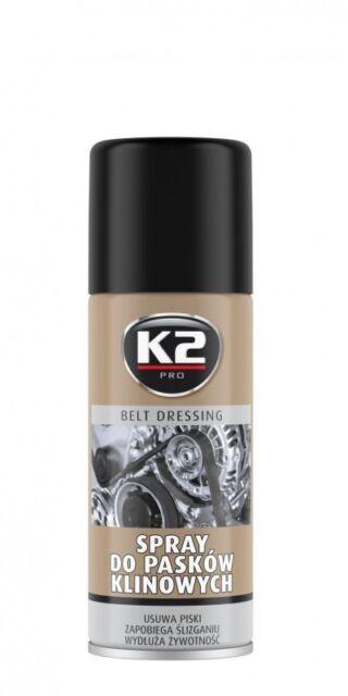 Spray Antideslizante de correas / Elimina ruidos / Evita rotura / K2 / 400 ml