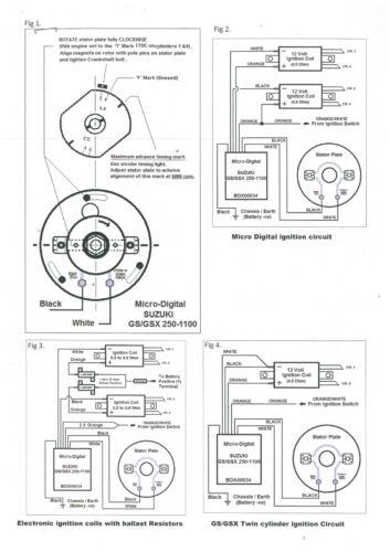Zündung Boyer electronic ignition KIT91 KIT00091 Suzuki GS400 450 twin elektr