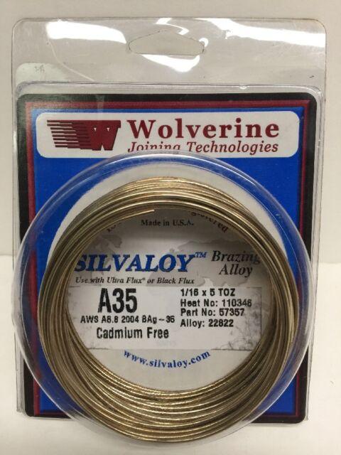 "1 troy oz 1//16/"" Bag-35 35/% Silver Solder Brazing Wire Flux"