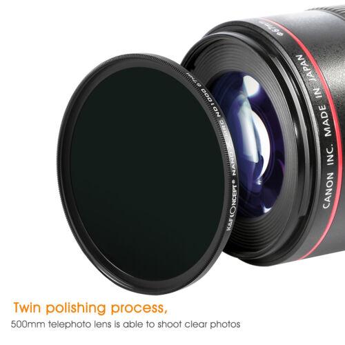K/&F concepto 52mm HD nano-x ND1000 densidad neutra para Canon Nikon Sony