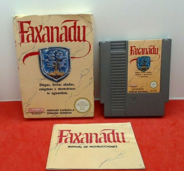 Faxanadu Nintendo NES-Version Espagnole