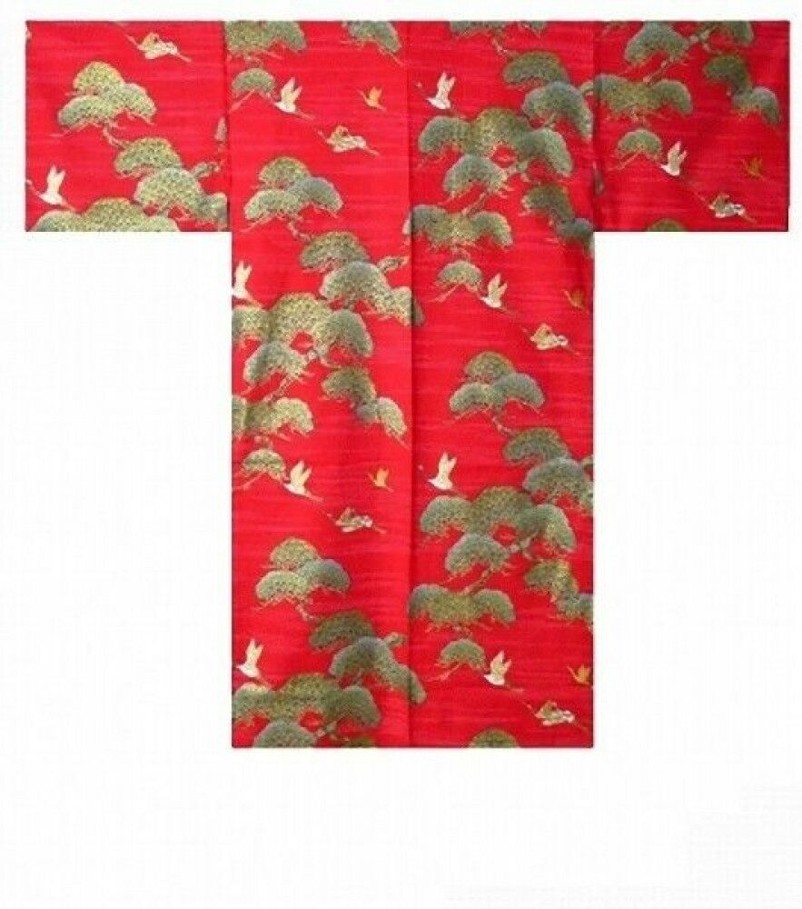 Ladies HAPPI Coat  pine & crane  Matsuri Festival Authentic JAPAN SHL867