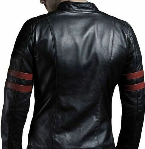 in da Red pelle Fight uomo moto Fight Hybrid nera Retro Giacca da Stripe Mayhem wtEFXaqq7