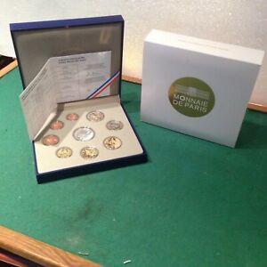 Coffret BE 2013 France 9 pièces 10 Euro + 2 Euro à 1 Centime Belle Epreuve
