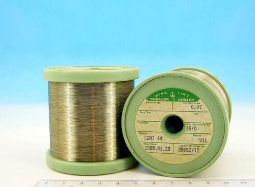 30m 100ft 0.07mm E ISOTAN Constantan 41AWG 127.0 Ω//m 38.7 Ω//ft Resistance WIRE
