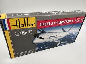 Maquette-a-monter-avion-Airbus-A-320-Air-France-Heller-neuve-echelle-1-125