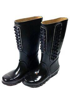 BCBGMaxAzria-Shoes-BCBG-Maxazria-Studded-Rubber-Rain-Boots-Sz-7-Usa