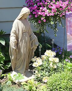Image Is Loading Virgin Mary Statue Blessed Mother Garden Sculpture Our
