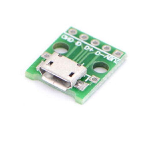 5PCS mini USB to DIP Adapter Converter for 2.54mm PCB Board DIY Power Supply KK