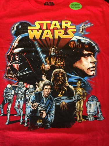 NEW Official Star Wars Rogue 1 One Movie Logo T-Shirt Youth Sizes GLOW IN DARK!