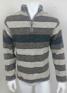 de Suéter Of para medio hombre Nuevo 100 A Zip lana Kind Tamaño Laundromat Neck One xgHIttq