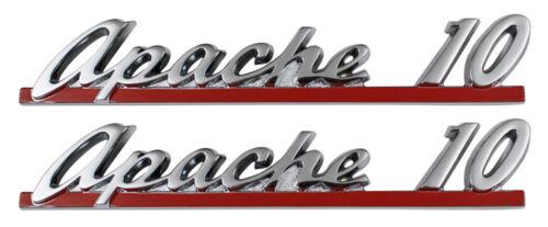 9150 FOR 1961 CHEVY APACHE 10 TRUCK NEW Trim Parts Front Hood Emblem PAIR