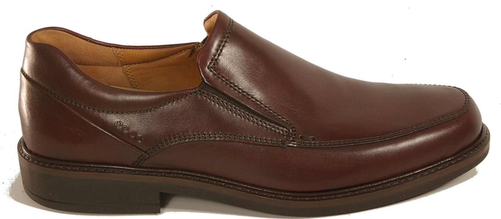 ECCO shoes model HOLTON slip ons brown leather NEW