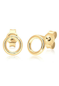 Kreis-Ohrringe-Basic-Ohrstecker-Trend-Rund-925er-Sterling-Silber-von-Elli-Neu