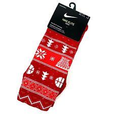 Nike Elite Crew Christmas Basketball Socks Men Size 8-12 Red ...