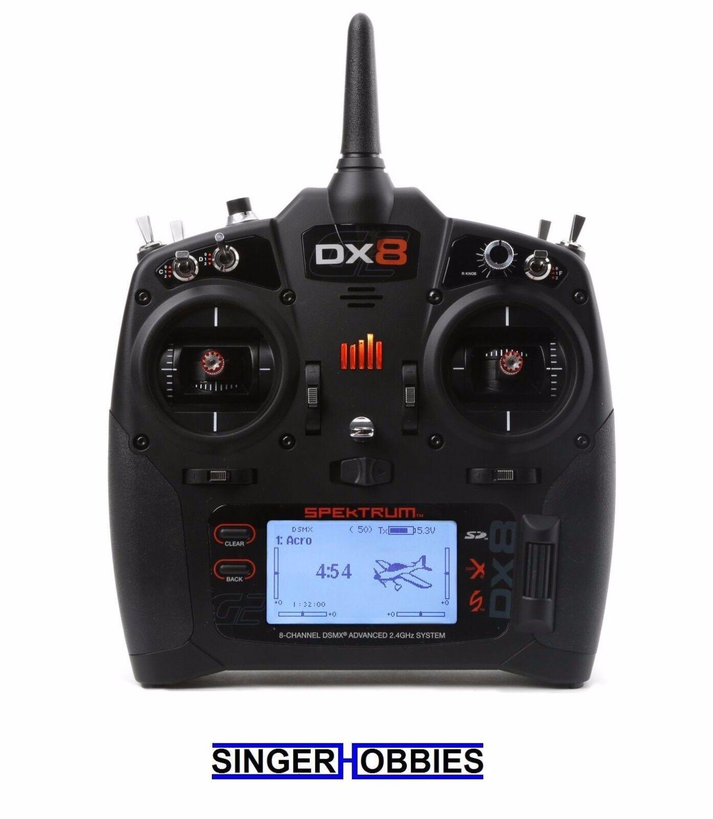 Spektrum DX8 GEN 2 Dsmx Transmisor De 8 Canales (radio), modo 2 SPMR 8000 Hh
