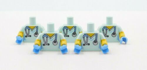 5 LEGO TORSOS DOCTOR VETERINARIAN NURSE MINIFIGURES BOY GIRL STETHOSCOPE