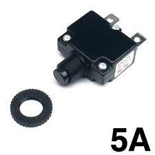 New 5 Amp Miniature Push Button Thermal Circuit Breaker 12 50v Dc 125 250v Ac