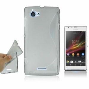 Etui-Bumper-Cas-de-Coquille-Telephone-pour-Portable-Sony-Xperia-L-C210X-Gris