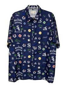 Beggars Pizza Chicago White Sox Button Up Short Sleeve Shirt MLB Men's XL