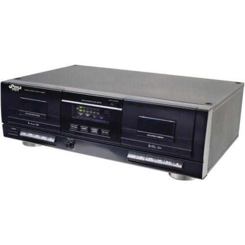Pyle PT659DU Dual Stereo Cassette Deck W// Tape USB to MP3 Converter