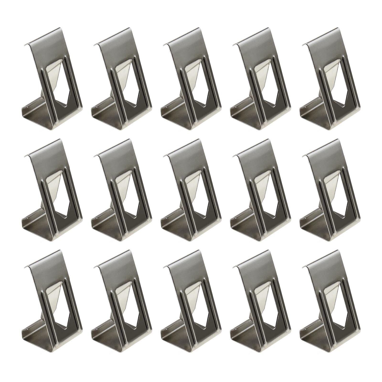 50x/100x 3D Printer Hot Bed Glass Platform Metal Spring Turn Clips Holder Silver