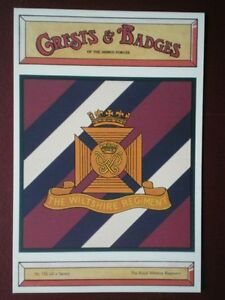 POSTCARD CRESTBADGE OF ROYAL WILTSHIRE REGIMENT - <span itemprop=availableAtOrFrom>Tadley, United Kingdom</span> - Full Refund less postage if not 100% satified Most purchases from business sellers are protected by the Consumer Contract Regulations 2013 which give you the right to cancel the purchase w - Tadley, United Kingdom