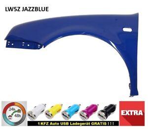 VW-Golf-4-Kotfluegel-LW5Z-JAZZ-BLUE-LINKS-vorn-NEU-baj-97-06-lackiert