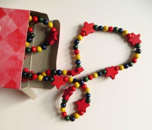 4/' Garland Wood Beads with Stars