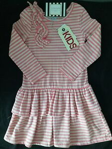 COTTON-ON-KIDS-DRESS-TODDLER-BABY-STRIPES-PINK-BEAUTIFUL-VINTAGE-CASUAL-LONG