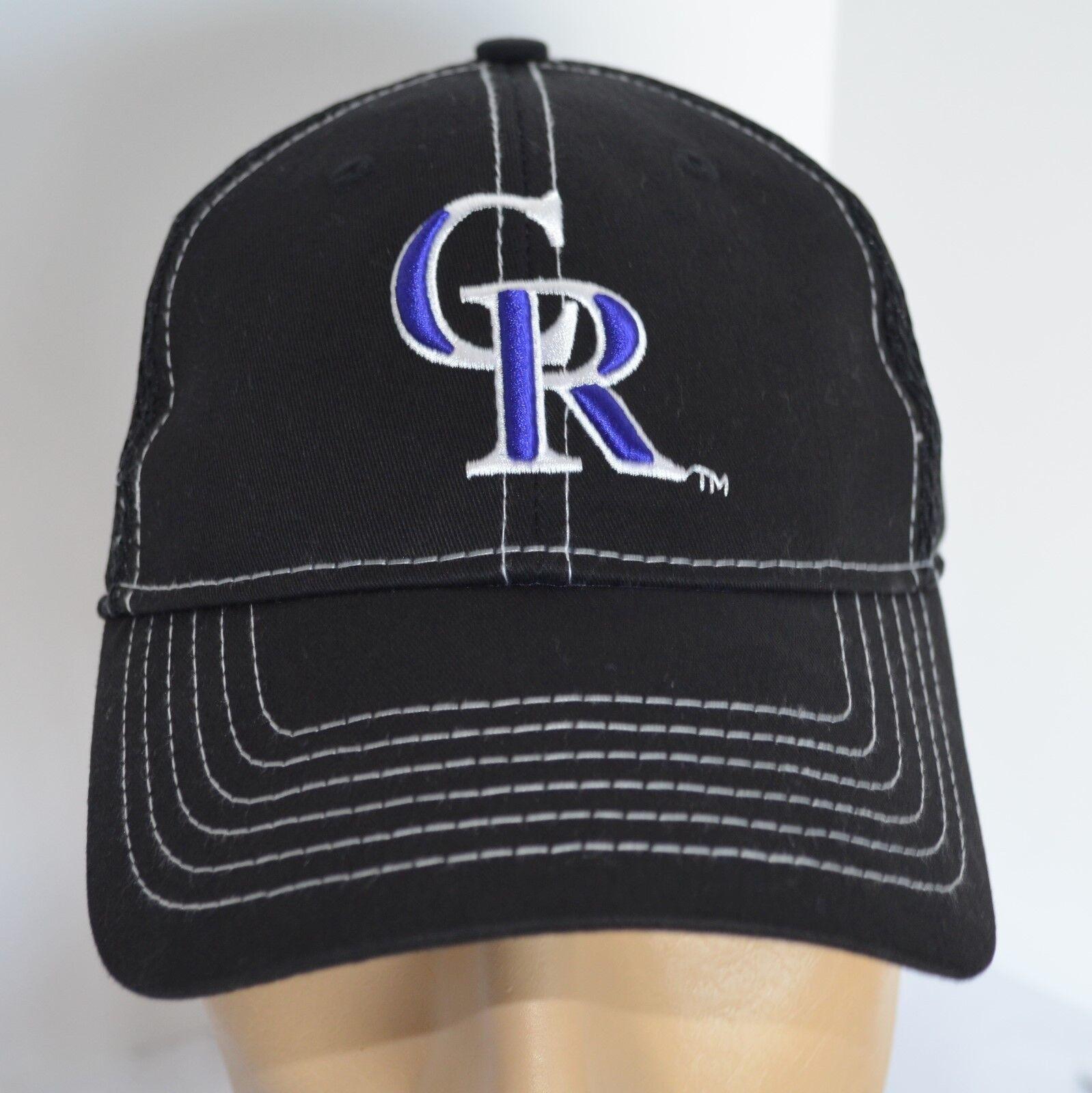 CR Coca Colorodo Rockies Coca CR Cola Hat MiLB Black Baseball Ball Cap Lid Mesh S/M c7fdc9