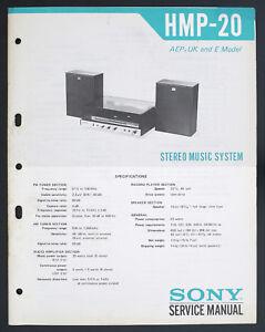 Tv, Video & Audio Sony Hmp-20 Original Stereo Music System Service-manual/diagram Aep/e/uk O130 Um Sowohl Die QualitäT Der ZäHigkeit Als Auch Der HäRte Zu Haben
