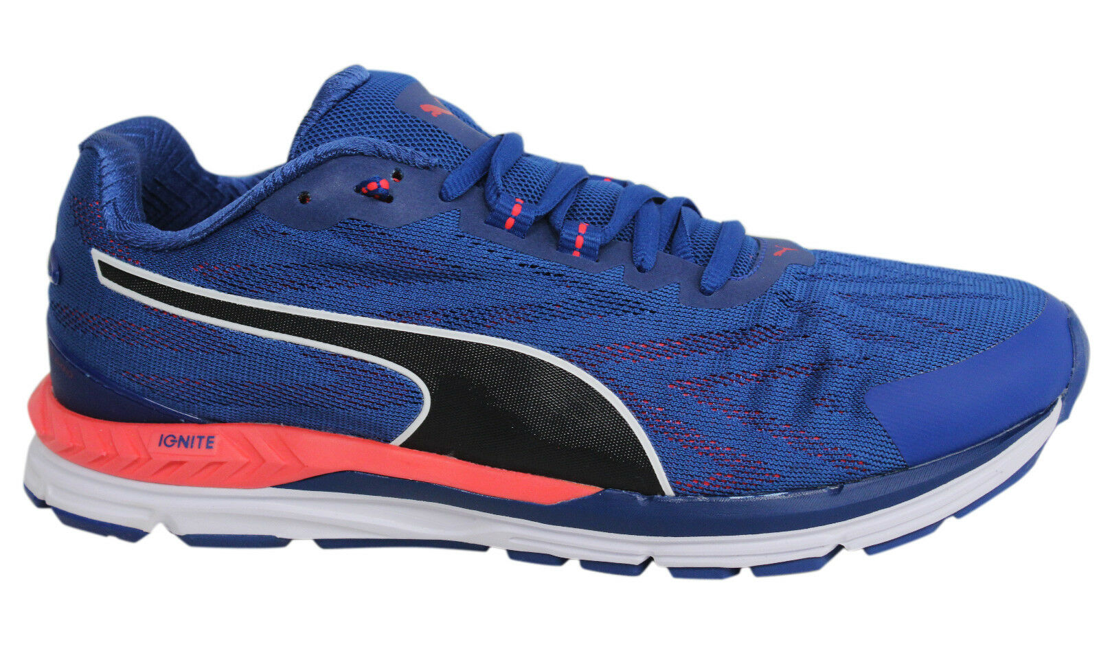 Puma Ignite 2 Speed 600 Lace Up Blue Pink Textile Mens Trainers 189518 01 P5