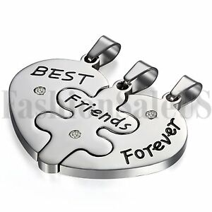 BEST-FRIEND-FOREVER-Heart-Shape-3-Pendants-Charms-Necklaces-BFF-Friendship-Gift
