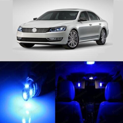 15 x Blue LED Interior Light For 2012-2017 Volkswagen VW Passat B7 Pry TOOL