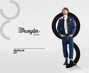 Wrangler-Jeans-Herren-kultige-Stretch-Denim-Hose-unten-Regular-Fit