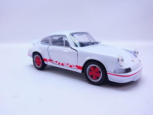47691 Welly Porsche 911 Carrera 2,7RS 1973 F-Serie weiß-rot Modellauto 1:37 NEU