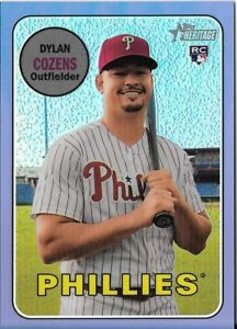 Dylan-Cozens-2018-Topps-Heritage-High-CHROME-PURPLE-REFRACTOR-Phillies-THC-634