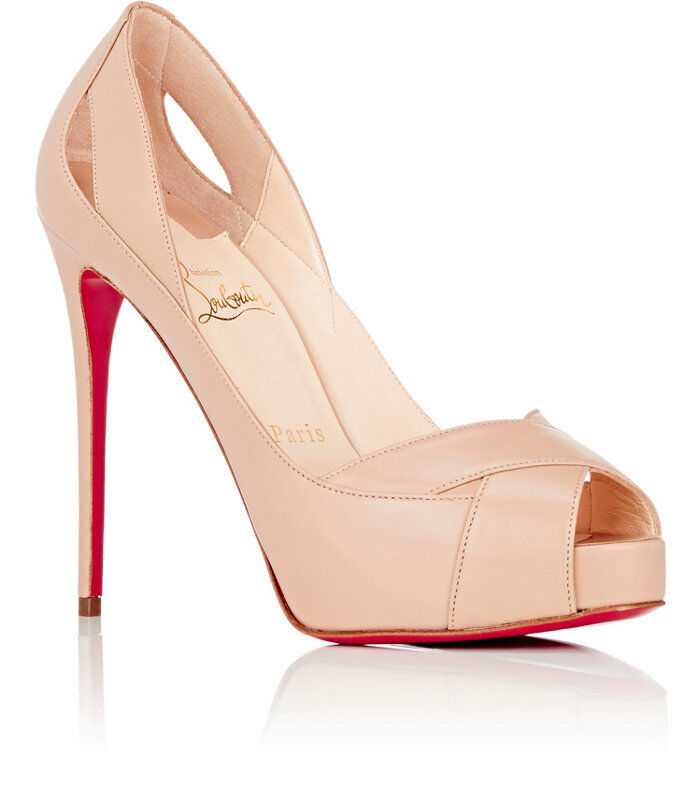 100% AUTHENTIC NEW WOMEN LOUBOUTIN ACADEMA NUDE 120 PUMPS/HEELS US 11.5