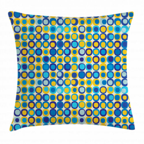 Blue and Yellow Throw Pillow Cases Cushion Covers Home Decor 8 Sizes