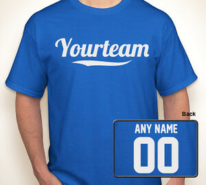 Custom softball volleyball any name color number your team for Custom t shirts for teams